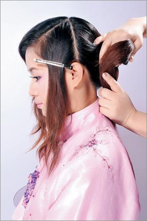 古装新娘发型步骤图解
