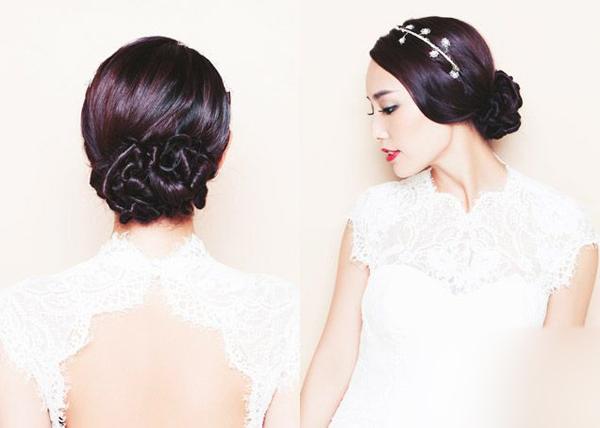 新娘发型详细步骤编织