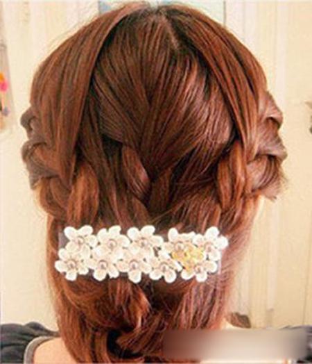 韩式新娘编发教程图解 做最美的新娘