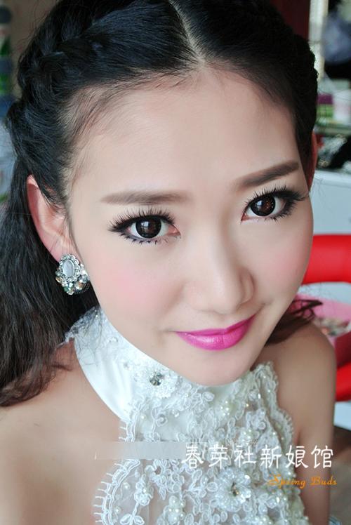 大眼新娘造型赏析 做个完美芭比新娘_妆面赏析_影楼