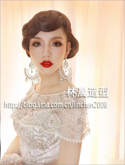 时尚大气新娘造型 让你成为气场女王_妆面赏析_影楼