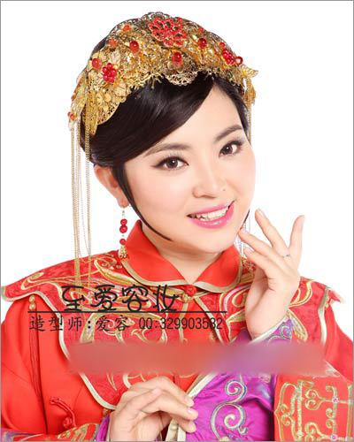 秀禾服新娘造型 演绎传统中式复古美(2)