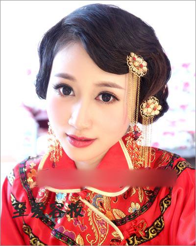 秀禾服新娘造型 演绎传统中式复古美图片
