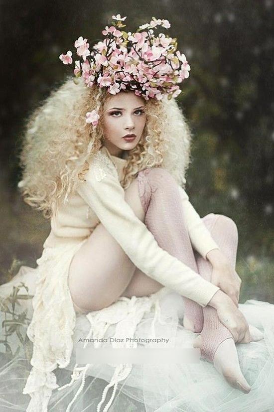 创意鲜花新娘造型 演绎别样格调图片