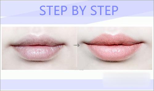 桃花唇画法步骤