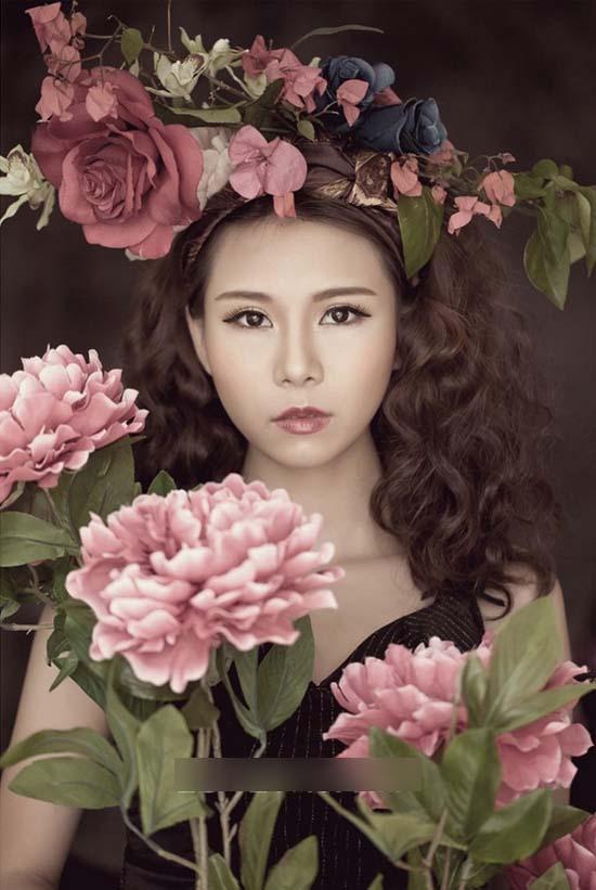低调复古的新娘妆 营造优雅甜美造型图片