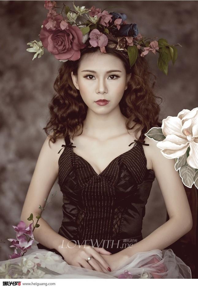 优雅甜美可爱新娘妆化妆造型图片