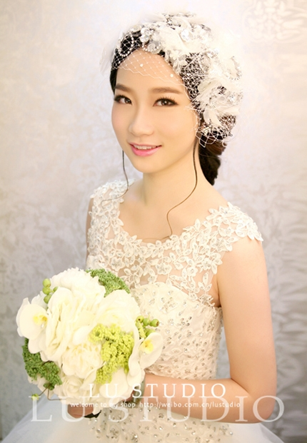 韩式甜美新娘造型 做韩剧里的女主角_妆面赏析_影楼