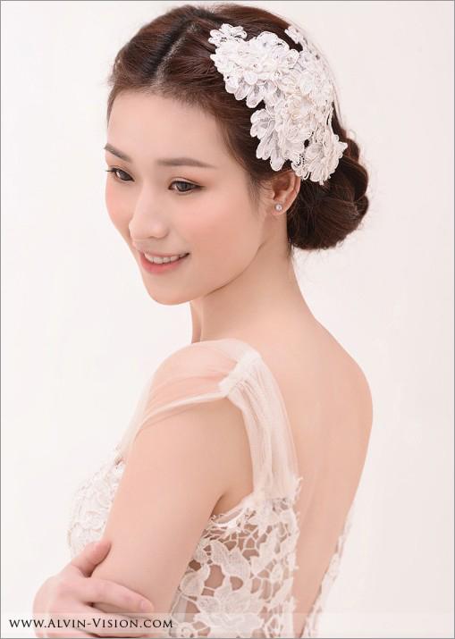 复古蕾丝式新娘造型 谱写老式巴黎的浪漫