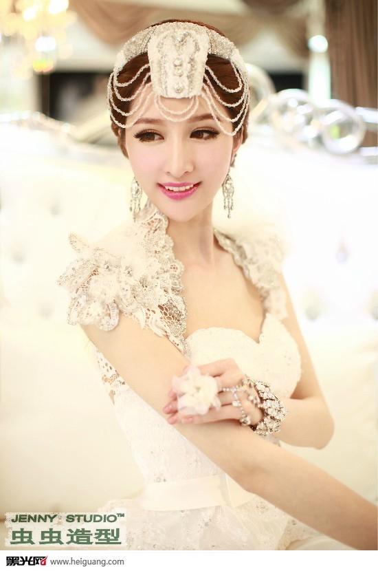 华丽新娘妆(全)_化妆造型_黑光图库_黑光网图片