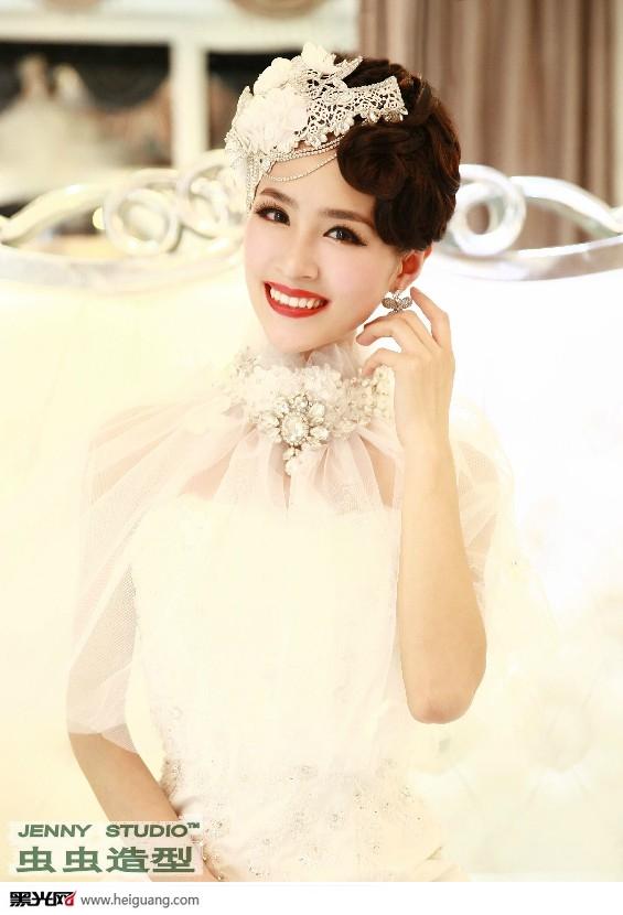 甜美可爱新娘妆(2)_化妆造型_黑光图库_黑光网图片