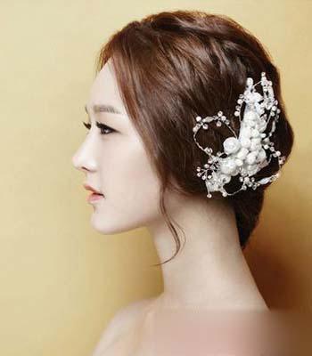 浪漫韩式新娘发型 做最美丽的公主_妆面赏析_影楼化妆