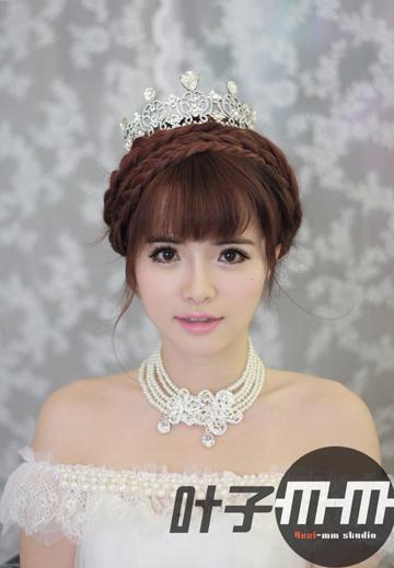 小清新新娘发型 上演极简之美图片