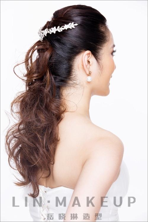 新娘发型赏析 纯美妆容不失清雅高贵(3)
