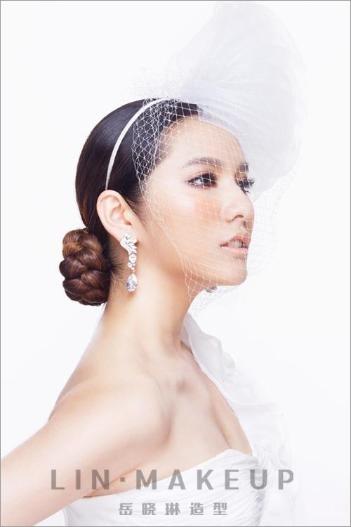 新娘发型赏析 纯美妆容不失清雅高贵(5)