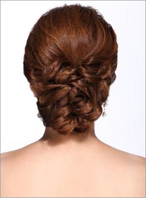 韩式新娘发型步骤图解图片