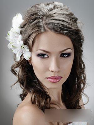 欧式新娘卷发发型 彰显时尚优雅气质图片