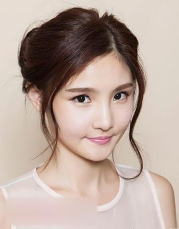韩式新娘盘发发型