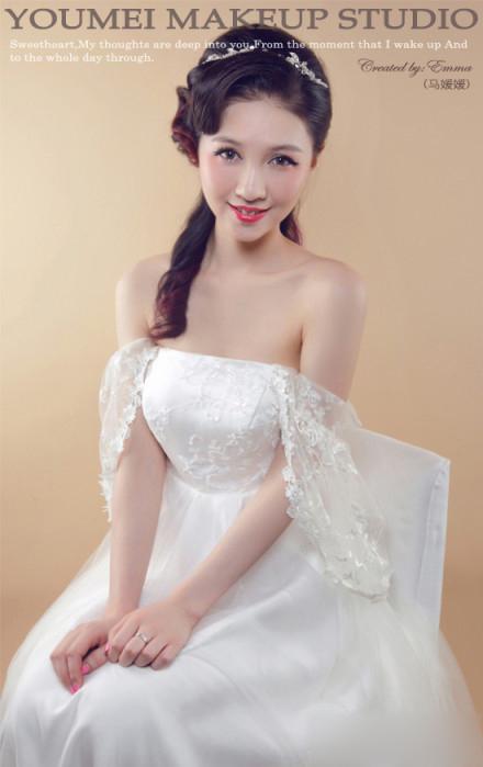 2013新娘造型赏析 温婉优雅如此静美(2)_妆面赏析__网