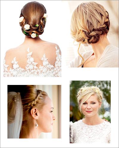 新娘盘发发型图片