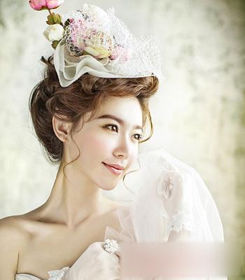韩式新娘发型赏析 打造更美的你(3)_妆面赏析_影楼_网