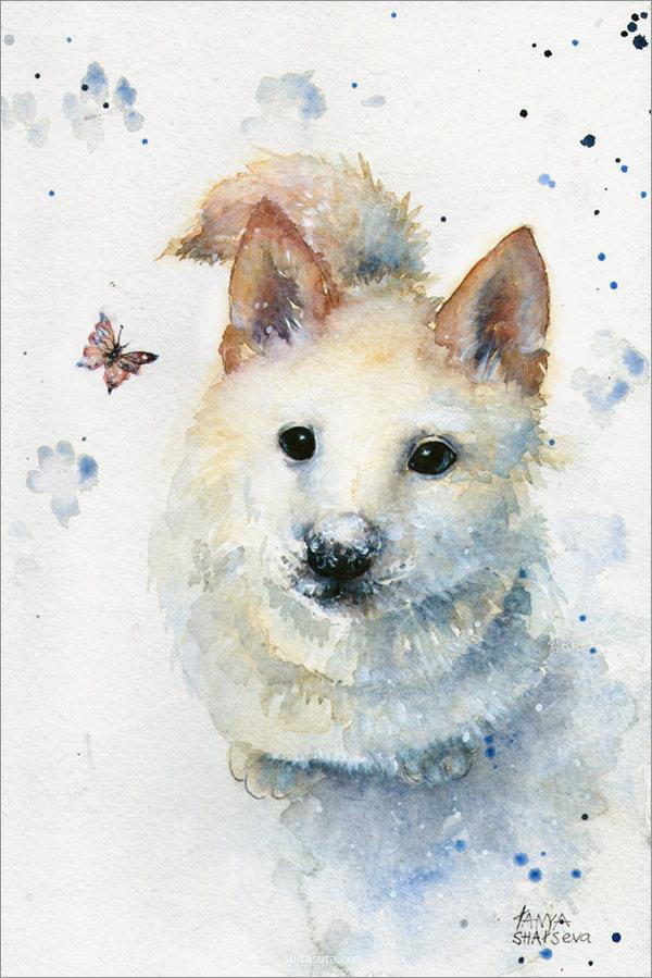 艺术家 手绘水彩插画