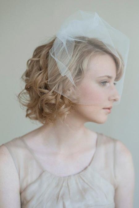 2014春夏新娘发型 短发新娘演绎别样风情