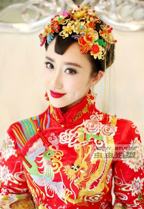 古装新娘造型 打造温婉秀丽的形象