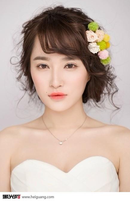 甜美优雅新娘妆(3)_化妆造型_黑光图库_黑光网图片