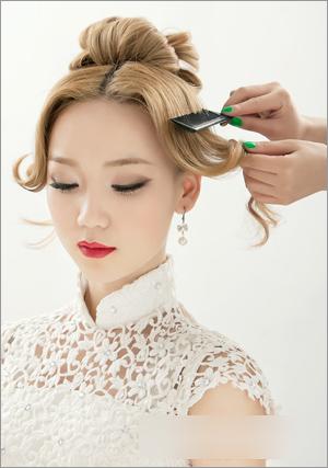 新娘发型步骤图解