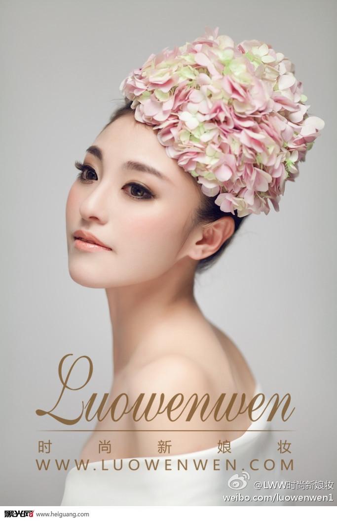 鲜花新娘造型化妆造型