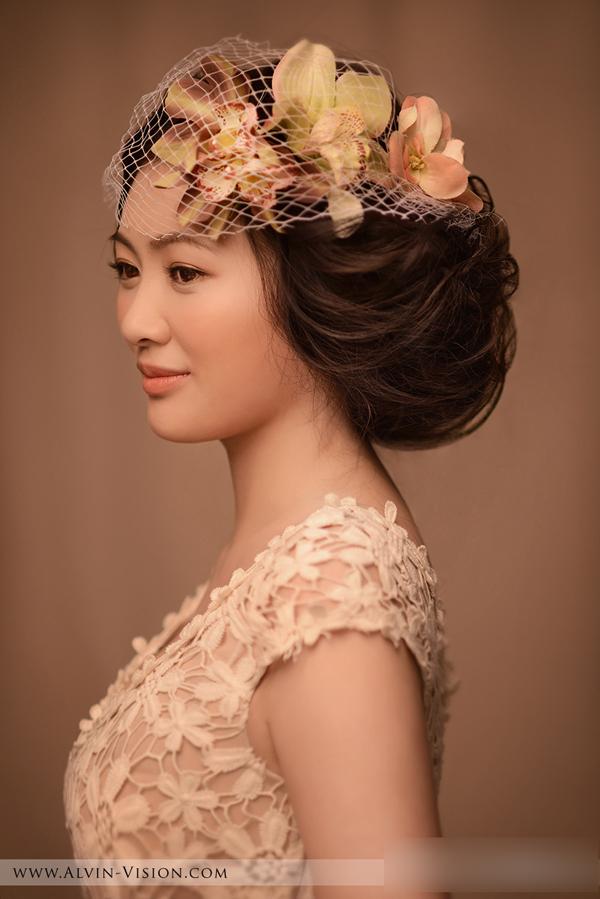 典雅复古的新娘造型 美丽动人_妆面赏析_影楼化妆_网
