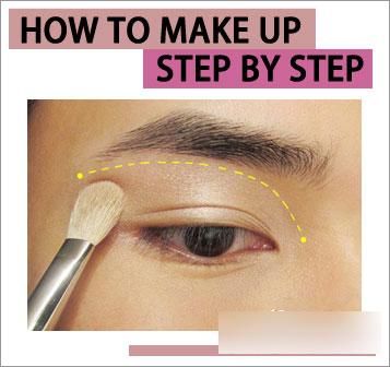 韩眼影的图片步骤