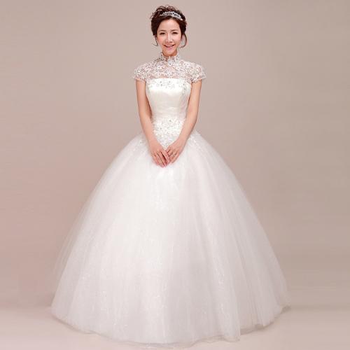 2014新娘婚纱造型 洋溢幸福笑容
