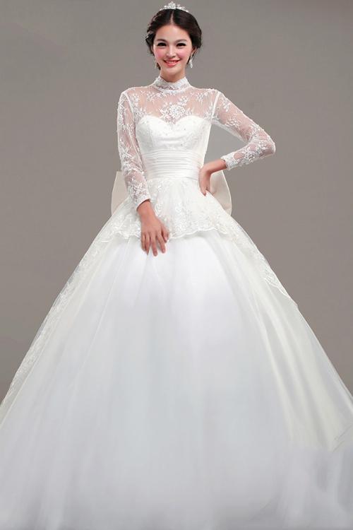2014新娘婚纱造型 洋溢幸福笑容(2)