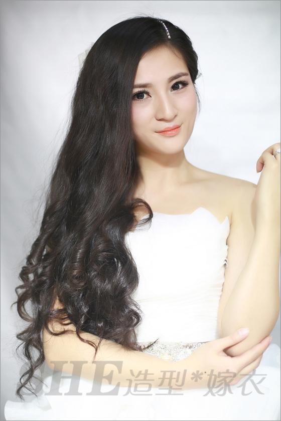 2014新娘长发发型 婉约迷人