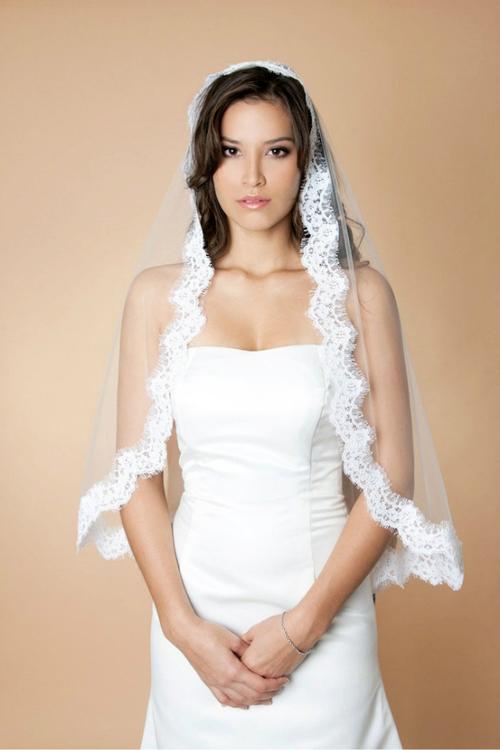 新娘头纱造型图片