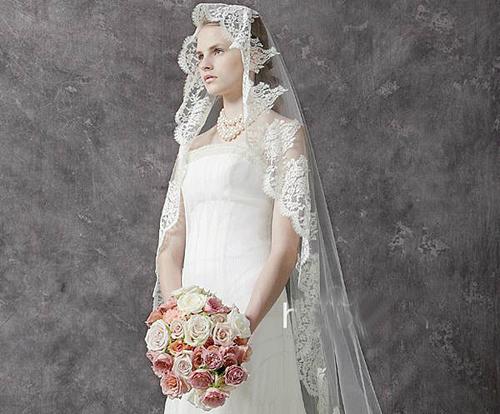 新娘头纱造型