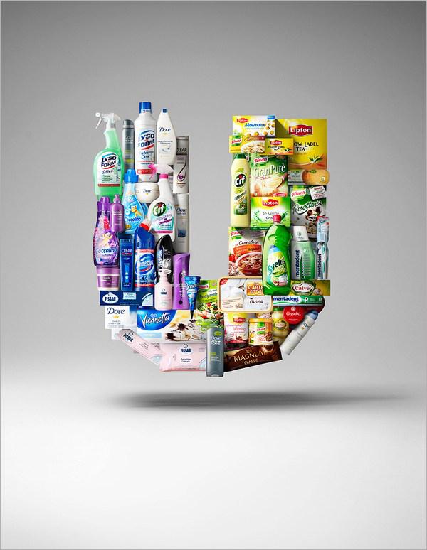 Christian Stoll,德国摄影师、设计师,这是他的一组新作,为联合利华创作,使用其庞大的产品线和特性组合成公司标志性的U字母。联合利华(Unilever)是全球第二大消费用品制造商,由荷兰MargrineUnie人造奶油公司和英国Lever Brothers香皂公司于 1929年合并而成,总部设于荷兰鹿特丹和英国伦敦,分别负责食品及洗剂用品事业的经营,年营业额超过400亿美元,是全世界获利最佳的公司之一。联合利华系列创意海报招贴作品设计欣赏。
