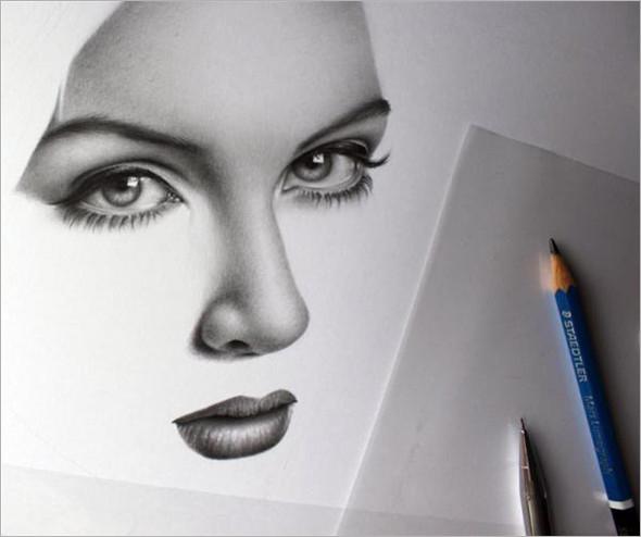 【设计欣赏】人像铅笔画素描:双瞳剪水