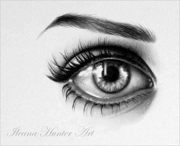 人像铅笔画素描:双瞳剪水(5)_设计欣赏_影楼数码_黑光