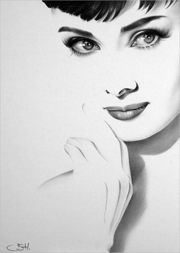 美丽或者可爱的素描人物