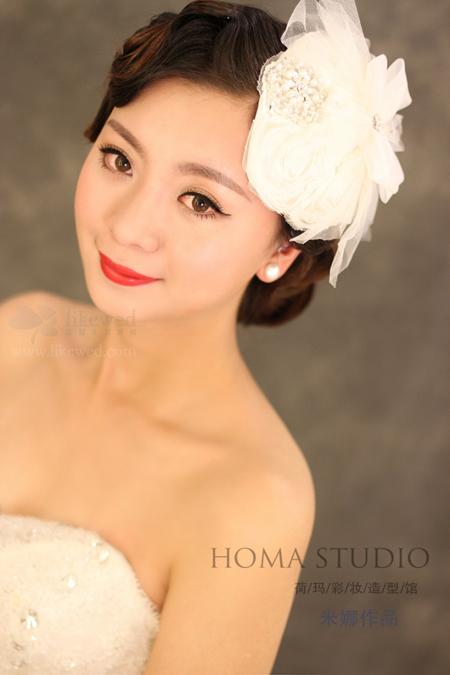 时尚新娘发型v发型打造复古型新娘做适合圆脸脸什么发型大图片