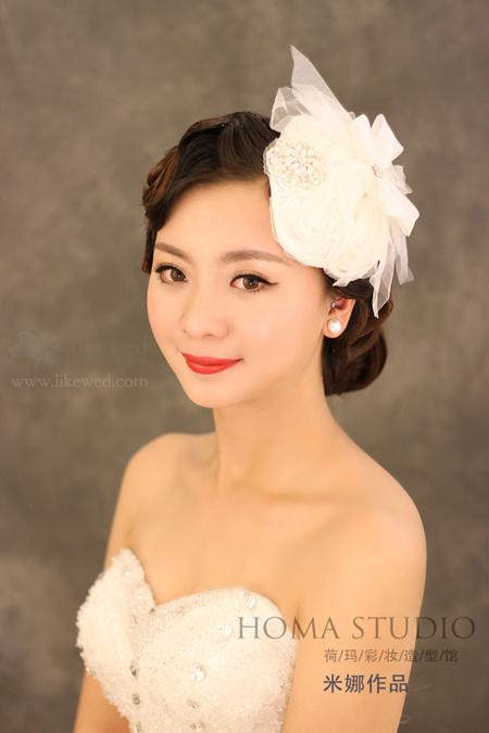 时尚新娘发型赏析 打造复古型新娘(2)