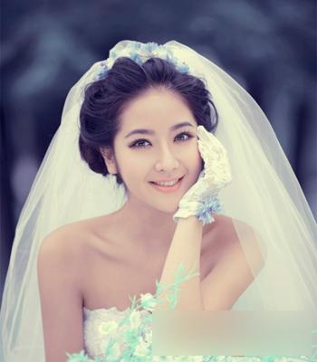 韩式新娘发型 展现独特优雅魅力_妆面赏析_影楼化妆