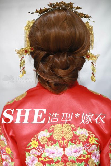 中国古典秀禾装新娘化妆造型欣赏