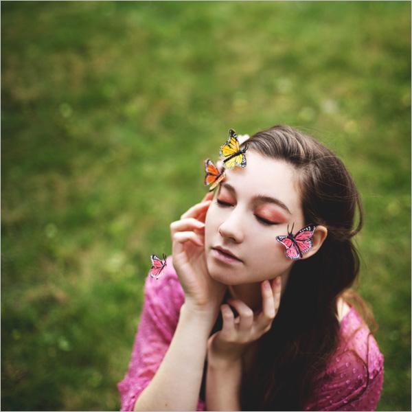 audrey simper人像摄影:21岁女摄影师的创意自拍照图片