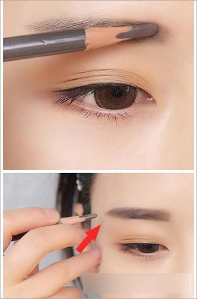 镇江美源彩妆美甲培训--韩国裸妆化妆步骤 粗眉 红唇