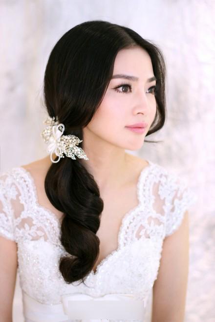 新娘发型图片欣赏 精致简约图片