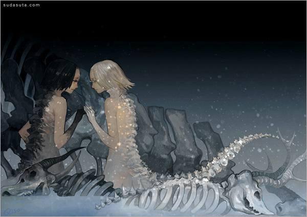 手绘插画 中国风插画